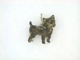Cairn Terrier C242W/Wings/Rhodium (WG)