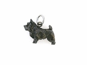 Cairn Terrier C533W/Rhodium Black