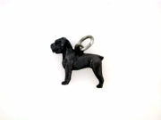 Cane Corso Uncropped Ears C599W/Rhodium Black