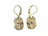 Cane Corso Head ER547Y/Rhodium Color LBD Earring