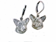 Cardigan Welsh Corgi Head ER576 LBD Earring