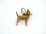 Chihuahua C047R Shorthaired/Rhodium Color (RG)