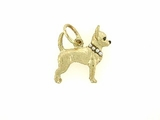 Chihuahua C271Y Shorthaired/Rhodium E&N/8-Pearls