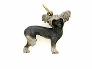 Chinese Crested C094AY/Rhodium Black & White