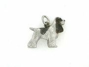 Cocker Spaniel P049/Rhodium (platinum)