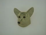 Corgi-Cardigan Welsh Head C593Y/Rhodium Nose & DBKE