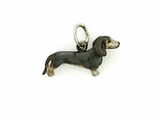 Dachshund C046W Shorthaired/Rhodium (WG)