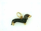 Dachshund C046Y Shorthaired/Rhodium