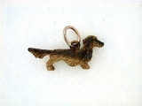 Dachshund C083R Longhaired/Rhodium Color (RG)