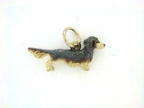 Dachshund C083Y Longhaired/Rhodium Black