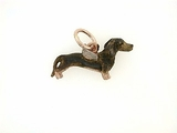 Dachshund C176R Shorthaired/Angel Wings/Rhodium Color (RG)