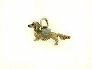 Dachshund C228R Longhaired/Angel Wings/Rhodium