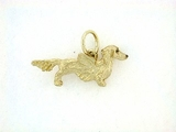 Dachshund C228Y Longhaired/Angel Wings/Rhodium E&N