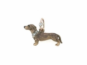 Dachshund Shorthaired C546R/Rhodium Color 8-DWC & DJR