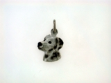 Dalmatian Head C586 W/Rhodium
