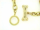 "Dog Bone B Toggle/Oval Chain N16Y 16"" Necklace"