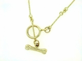 "Dog Bone C Toggle/Bridal Chain N8Y 16"" Necklace"