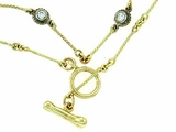 "Dog Bone C Toggle/Bridal Chain N8Y/4-DS 18"" Necklace"