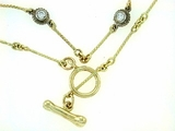 "Dog Bone C Toggle/Bridal Chain N8Y/6-DS 20"" Necklace"