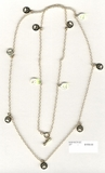 "Dog Bone C Toggle/Chain N1610Y & 11 Round Paw 37"" Necklace"