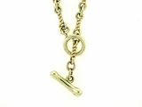 "Dog Bone C Toggle/Twist Chain N10Y 18"" Necklace"