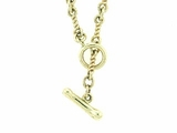 "Dog Bone C Toggle/Twist Chain N10Y 20"" Necklace"
