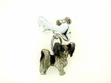 Dog Bone C159BW Tag Flat/Lapel Pin (WG)