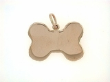 Dog Bone C323R Tag Flat Large (RG)