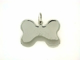 Dog Bone C323W Tag Flat Large (WG)