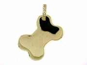 Dog Bone C459Y Tag Flat Large/.06 Dia. Bail