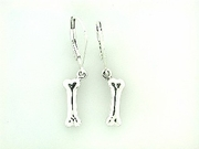 Dog Bone ER149C 3D Lever Back Earring