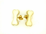 Dog Bone ER159BY Tag Flat/Post Earring