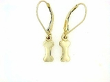 Dog Bone ER159CY Tag Flat/Lever Back Earring