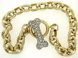 "Dog Bone Toggle/.33 Dia./Oval Chain B16Y 7.5"" Bracelet"