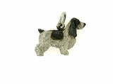 English Cocker Spaniel C158W/Rhodium (WG)