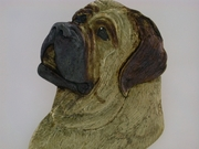 English Mastiff Head C588Y/Rhodium