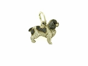 English Toy Spaniel C360W/Rhodium (WG)