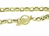 "Fish B Toggle/Oval Chain B16Y 07"" Bracelet"