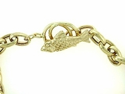 "Fish B Toggle/Oval Chain B16Y/2-Toggle Rings 07"" Bracelet"