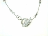 "Fish C Toggle/Bridal Chain N8W 18"" Necklace (WG)"