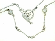 "Fish C Toggle/Bridal Chain N8W/4-DS 18"" Necklace (WG)"
