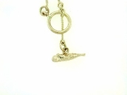 "Fish C Toggle/Bridal Chain N8Y 24"" Necklace"