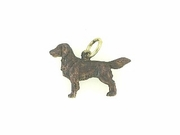 Flat-Coated Retriever C536Y/Rhodium Color