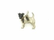 Fox-Smooth Terrier K198W/Rhodium (18KWG)