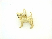 Fox Terrier-Smooth C198Y/Rhodium E&N