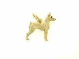 Fox Terrier-Toy C368Y/Rhodium E&N