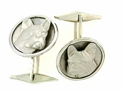 French Bulldog C306W Head/Disc & Cuff Link (WG)