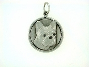 French Bulldog C306W Head/Disc Rhodium E&N (WG)