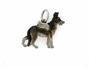 German Shepherd C396W/Wings/Rhodium (WG)