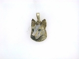 German Shepherd C502W Head/Rhodium (WG)